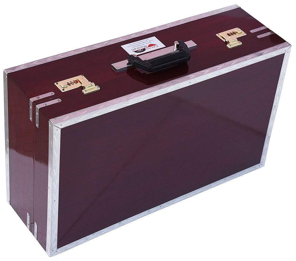 Harmonium Traveler/Portable/Folding Type By Kaayna Musicals, 9 Stops- 5 Main & 4 Drone, 3½ Octaves, Coupler, Dark Colour, Gig Bag, Bass-Male Reed - 440 Hz, Suitable for Yoga, Bhajan, Kirtan, Mantra by Kaayna Musicals (Image #9)