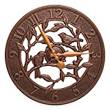 Whitehall Products Woodridge 16-Inch Indoor/Outdoor Wall Clock in Antique Copper