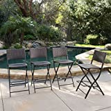 Cheap Marinelli Outdoor Multibrown Wicker Barstools (Set of 4)