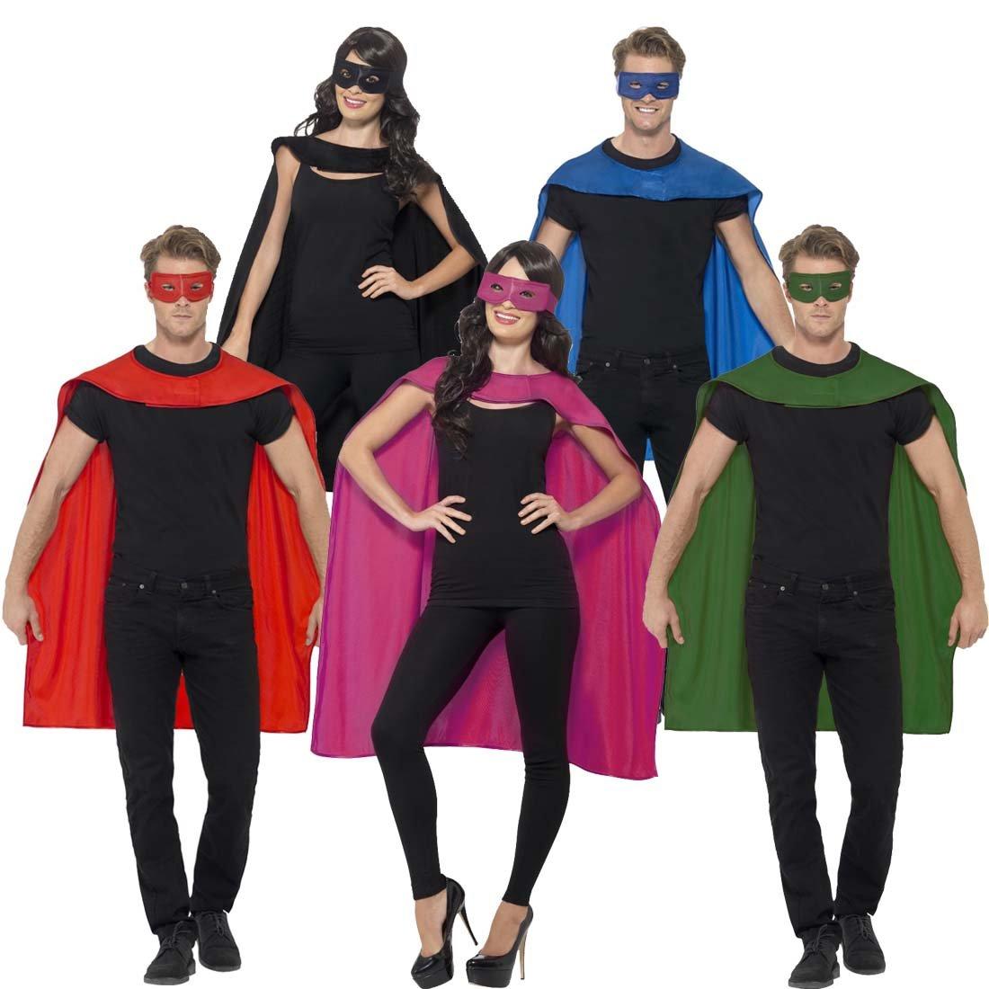 superheldenumhang maske superheld kostum blau superman umhang und augenmaske helden kostum erwachsene superhero karnevalskostum superhelden cape outfit
