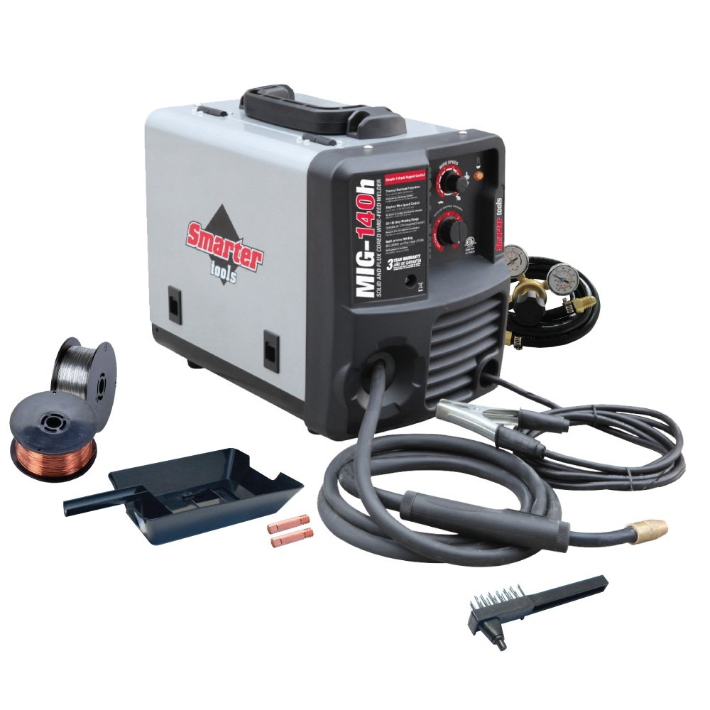 Smarter Tools MIG-140H 120V Solid Wire and Flux Cored Welder