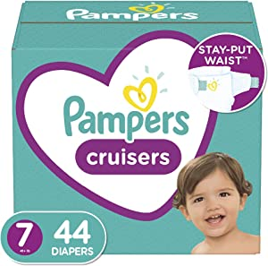 Diapers Size 7, 44 Count - Pampers Cruisers Disposable Baby Diapers, Super Pack (Packaging May Vary)
