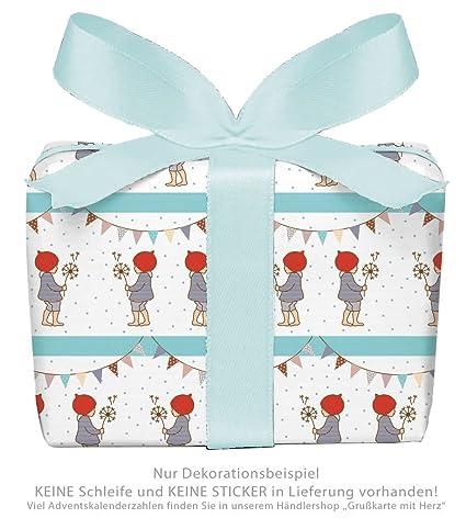 Juego de 3 hojas papel de regalo para niños/niños Cumpleaños ...