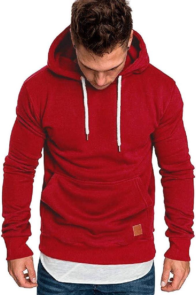 Internet/_camisetas de hombre Sudadera con Capucha Casual oto/ño de los Hombres Outwear Tops Blusa