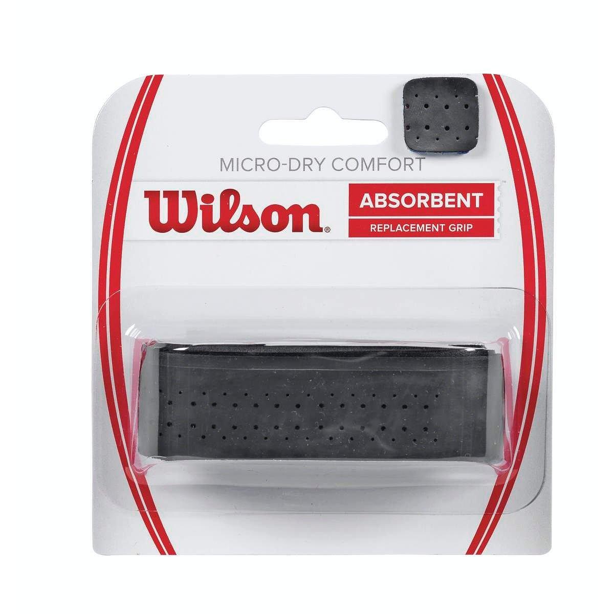 Wilson Micro-Dry Comfort Grip Federer, Unisex, Negro, Talla Única Talla Única WRZ4211BK