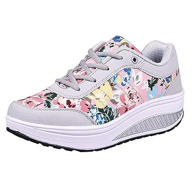SNEAKERS DONNA BAMBINA a fiori zeppa 36 scarpe floreale