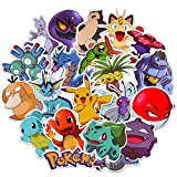Pokemon Stickers for Water Bottle[50pcs] Cute Animal Vinyl Decals for Laptop Phone Hydro Flask Car Computer Guitar Journal Notebook Ceiling Wall Helmet Skateboard Luggage PC Bike Bumper Waterproof
