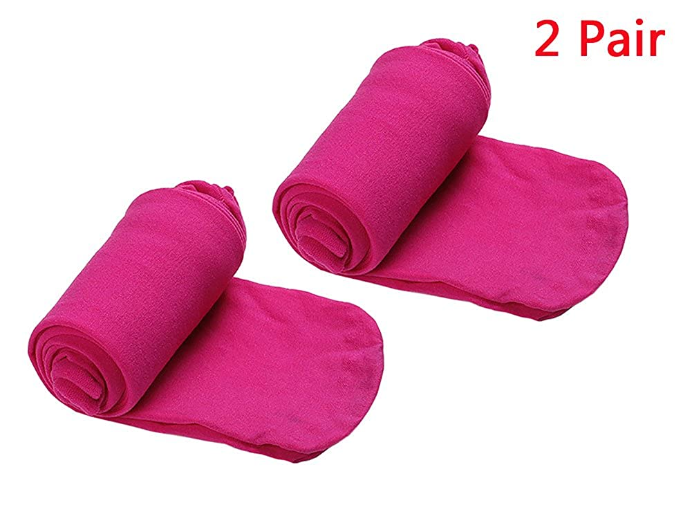 336bfe3dd9d86 2 Pack Baby Girl Dance Footed Tights Ballet Leggings Girls' Solid Color  Opaque Seamless Tights Legging