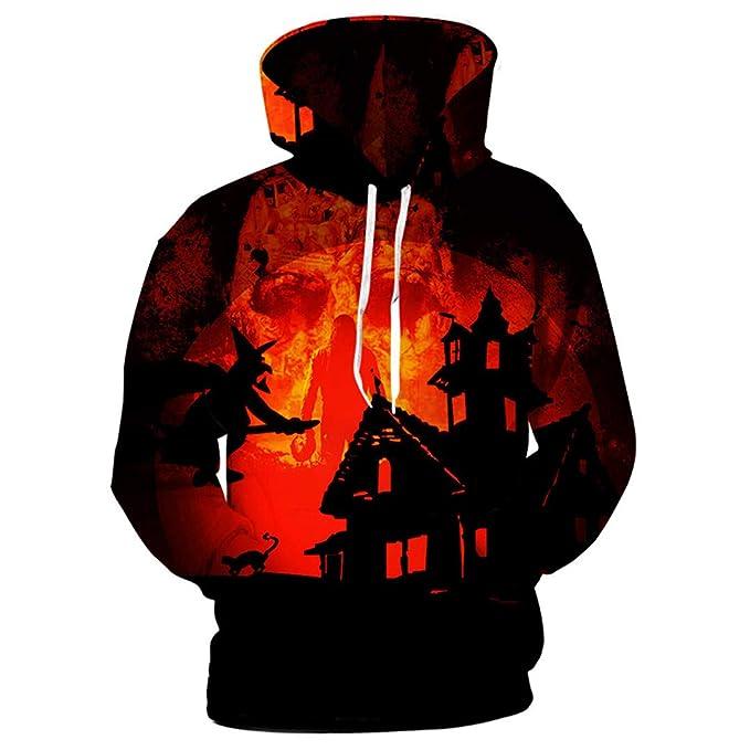 Diseño Hombre Sudaderas con Capucha 3D Hombres Sudaderas con Capucha Sudaderas de Halloween Estampado de Dibujos Animados Cool Outwear: Amazon.es: Ropa y ...