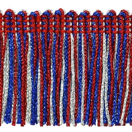 2-Inch Expo International 20-Yard Metallic Chainette Fringe Trim Red//White//Blue