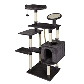 Amazon.com: 4HOMART - Torre de árbol de gato condo, 55