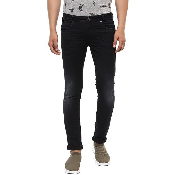 f92b00daa31a Mufti Black Super Slim Fashion Jeans  Amazon.in  Clothing   Accessories