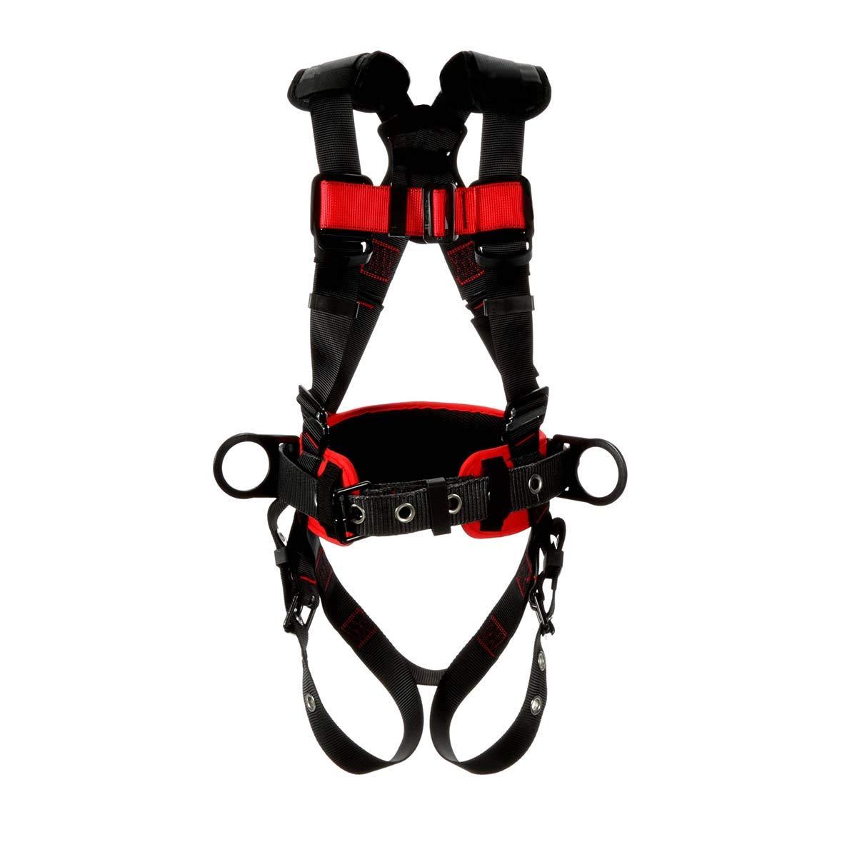 3M Protecta Construction Style Positioning Harness 1161309, Black, Medium/Large, 1 EA