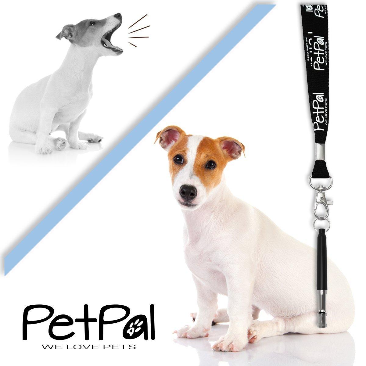 ultrasuoni Patrol Audio frequenza Regolabile PetP/äl Cani Premium Treno Smettere di abbaiare Corteccia Controllo Silencio Fischietto per addestramento per Cani e Cuccioli con Cordino Tracolla