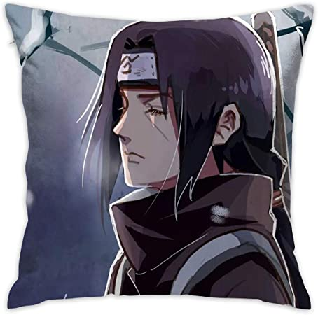 Naruto Uchiha Itachi  Anime Manga Two Sides Pillow Cushion Case Cover