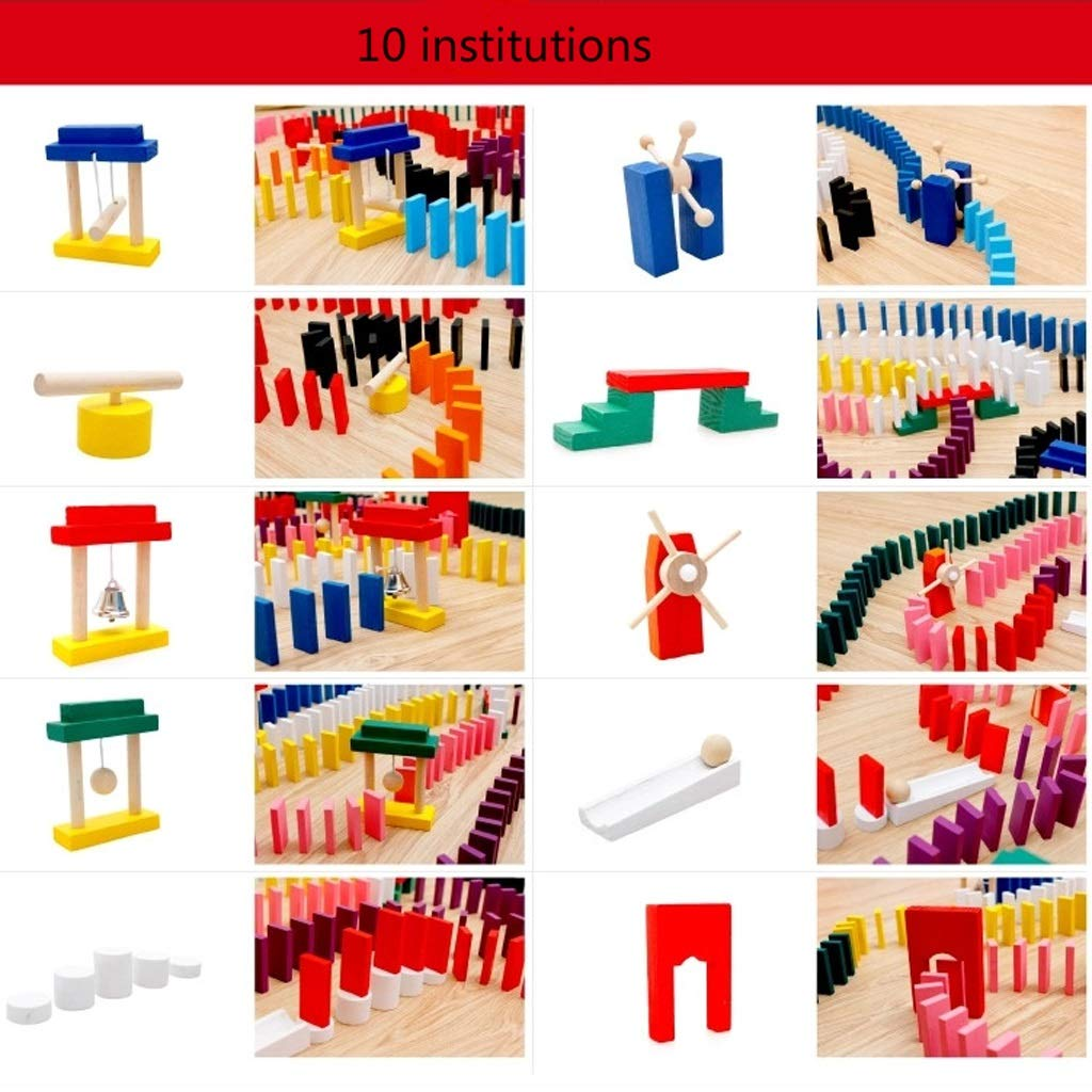 LIUFS-TOY Children's Solid Wood Standard Institution Adult Competition Domino Toy 3-6 Years Old (Size : M) by LIUFS-TOY (Image #7)