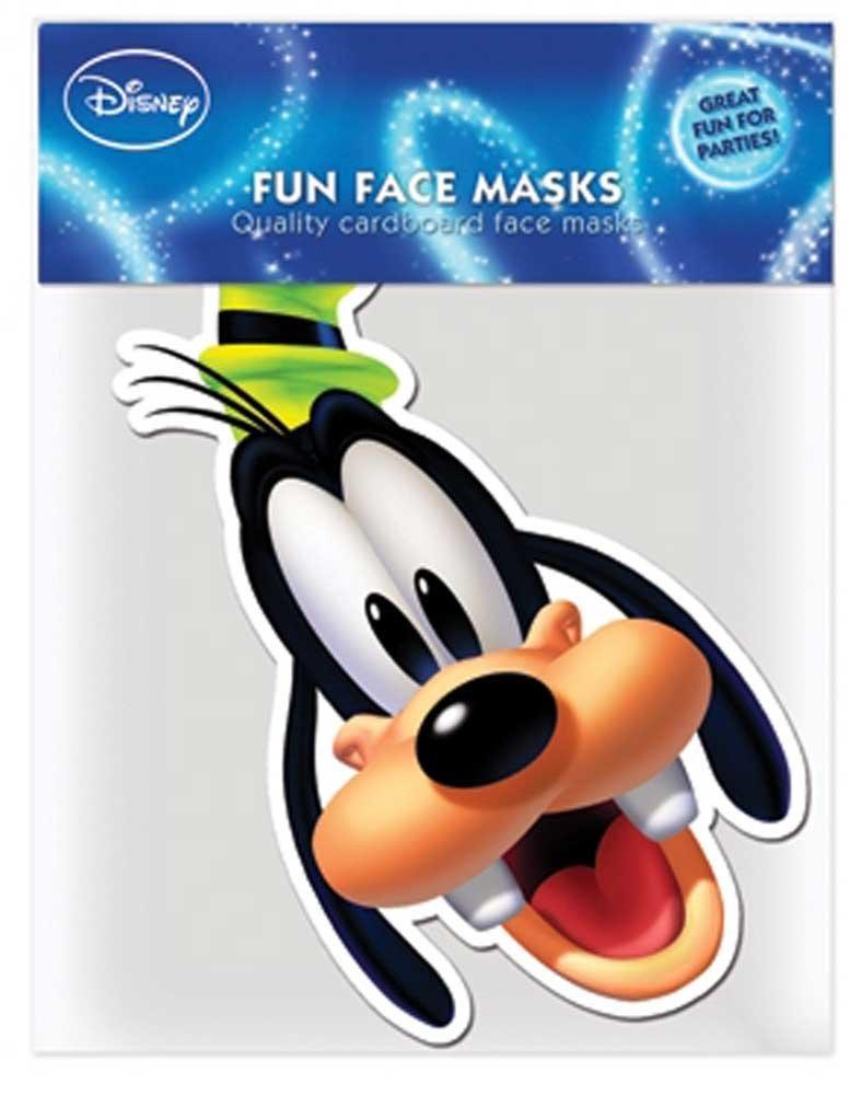Mickey Mouse - Goofy - Papp Maske, aus hochwertigem Glanzkarton mit Augenlöchern, Gummiband - Grösse ca. 30x20 cm empireposter