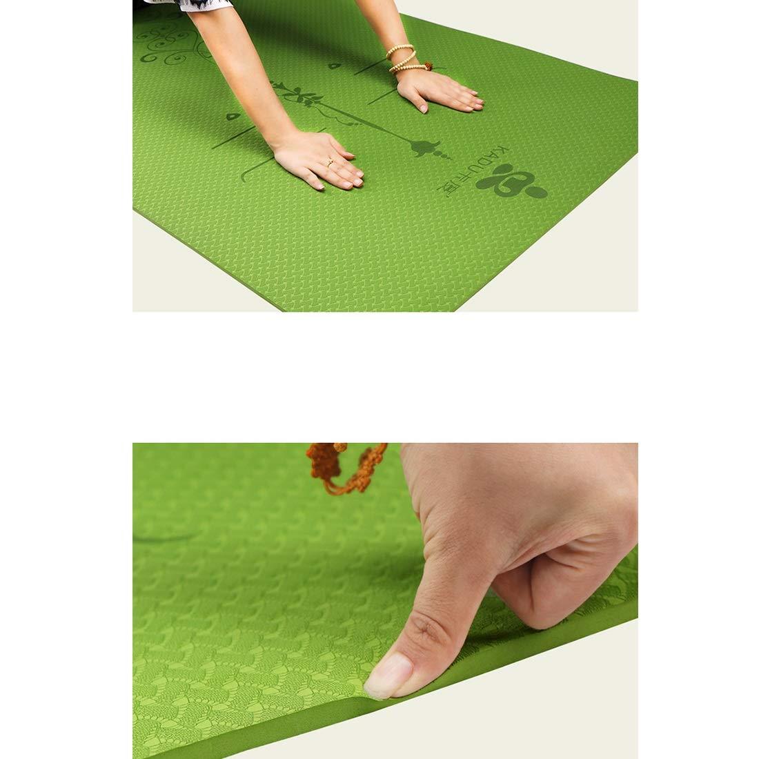 Liviana Alfombra de Yoga 6 / 8mm Gruesa Extra Grande 72X 24 / 72X 31.5 para Ejercicios de Ejercicios de Yoga Pilates ecológica FELICIGG Colchoneta de Yoga con Correa Antideslizante
