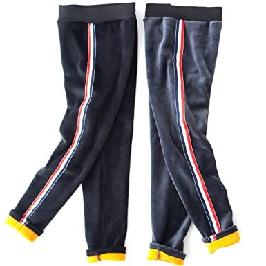 23ef7f3776253 Girls Winter Leggings Thicken Fleece Lined Pants Girls Cotton Tights Casual  Trousers 2Pack 100