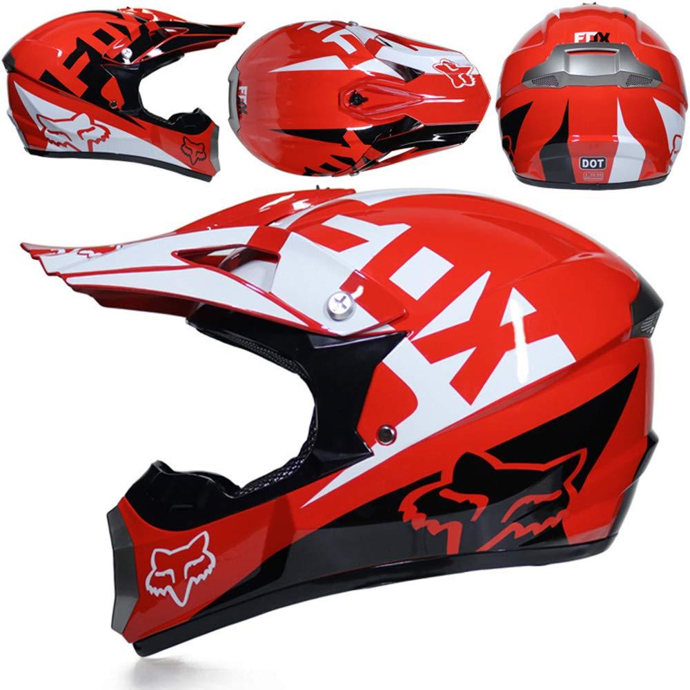 CFYBAO Motocross-Rennhelm Downhill-Vollbildhelm-Geschenkbrille Maskenhandschuhe Vier Jahreszeiten Helm f/ür Damen und Herren