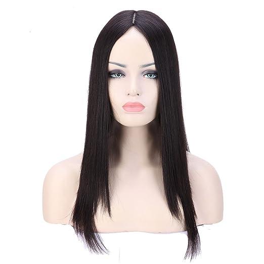 S-noilite 10 a grado Kosher Pelucas 100% Virgin brasileño pelo humano real Lace Front Peluca judía natural color: Amazon.es: Belleza