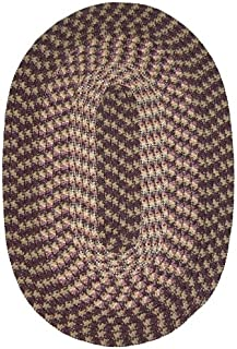 """product image for Constitution Rugs Hometown 20"""" x 30"""" Braided Rug in Eggplant"""