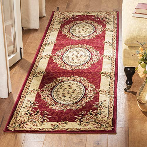 Safavieh Lyndhurst Collection LNH328C Traditional European Medallion Red and Ivory Runner (2'3