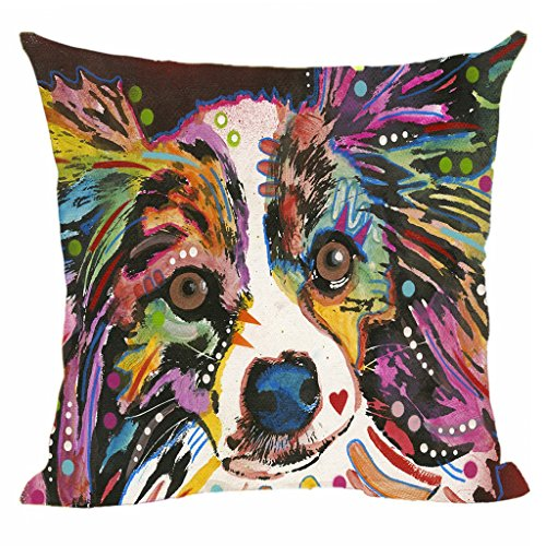 llow Covers Lovely Art Pet Dog Throw Pillow Case Customize Square Pillowcase For Home Sofa Couch Good Gift For Dog Lover 20