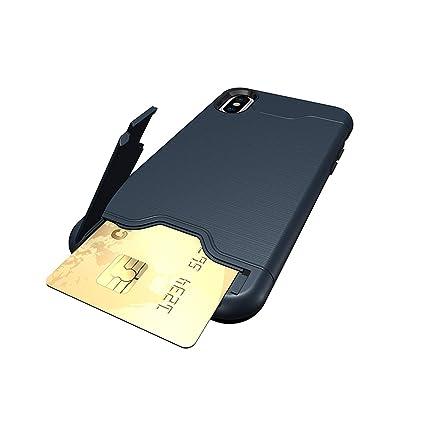 Amazon.com: Funda para iPhone X con ranura para tarjeta de ...