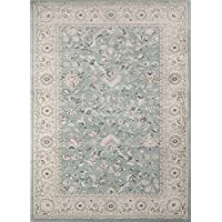 Momeni Rugs ZIEGLZE-03BLU2030 Ziegler Collection, Traditional Area Rug, 2 x 3, Blue