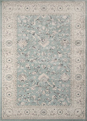 Momeni Rugs ZIEGLZE-03BLU2030 Ziegler Collection, Traditional Area Rug, 2' x 3', (Chobi Collection)