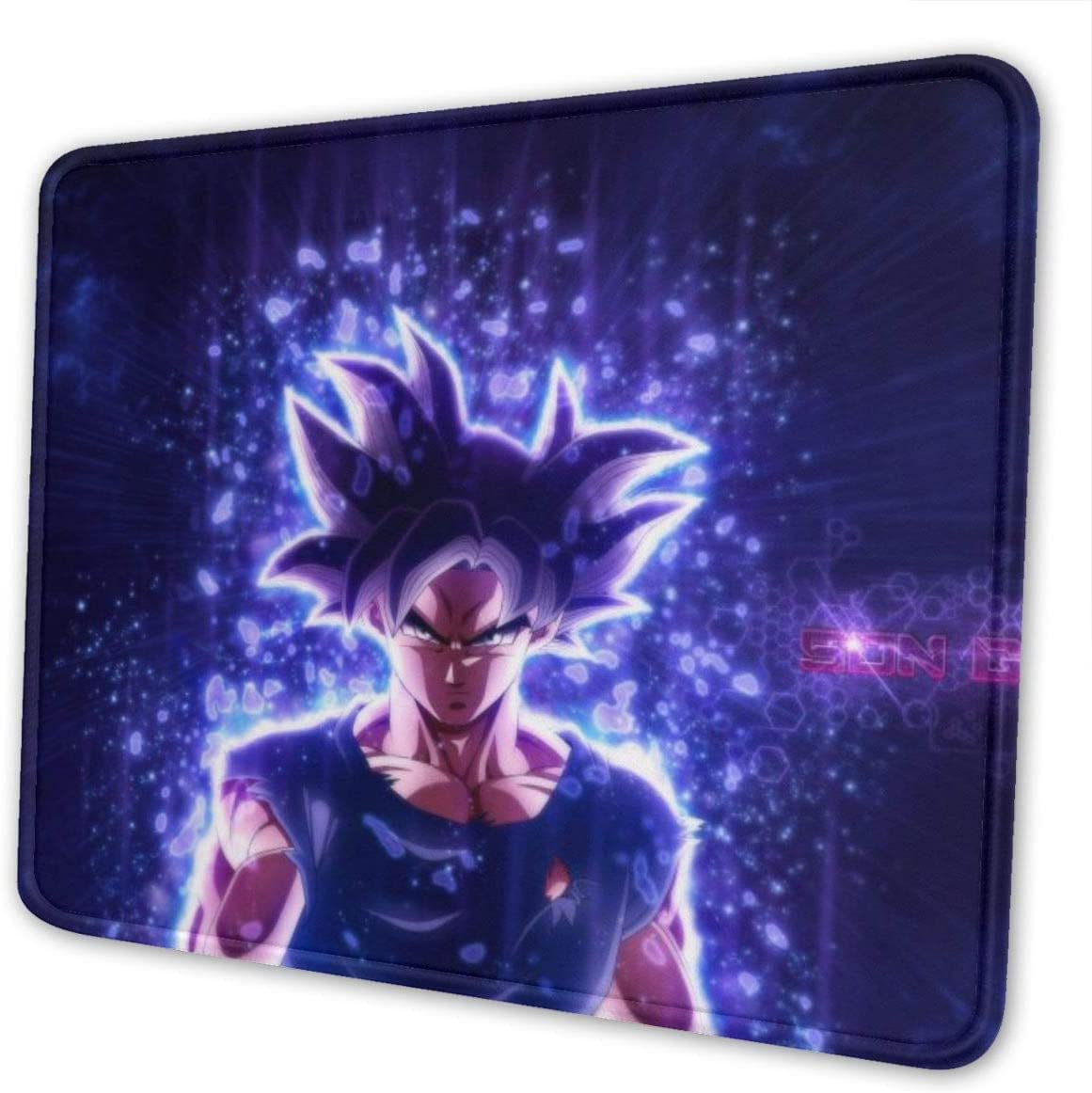 Anime Dragon Ball Son Guku Gaming Mouse Mat Pad Custom Professional Mousepad, Stitched Edges, Ideal for Desk Cover, Computer Keyboard, PC and Laptop (11.81 X 9.84 X 0.18inches)