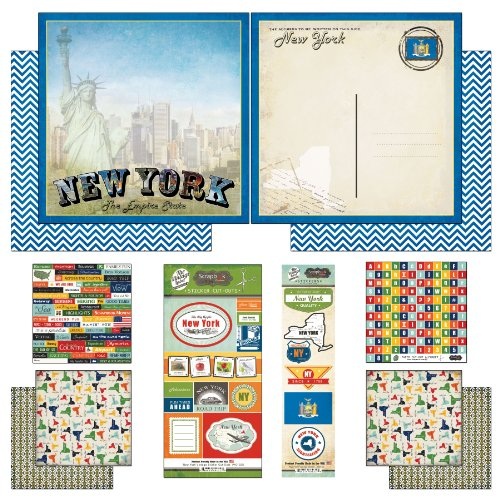 Scrapbook Customs Themed Paper and Stickers Scrapbook Kit, New York Vintage by Scrapbook Customs