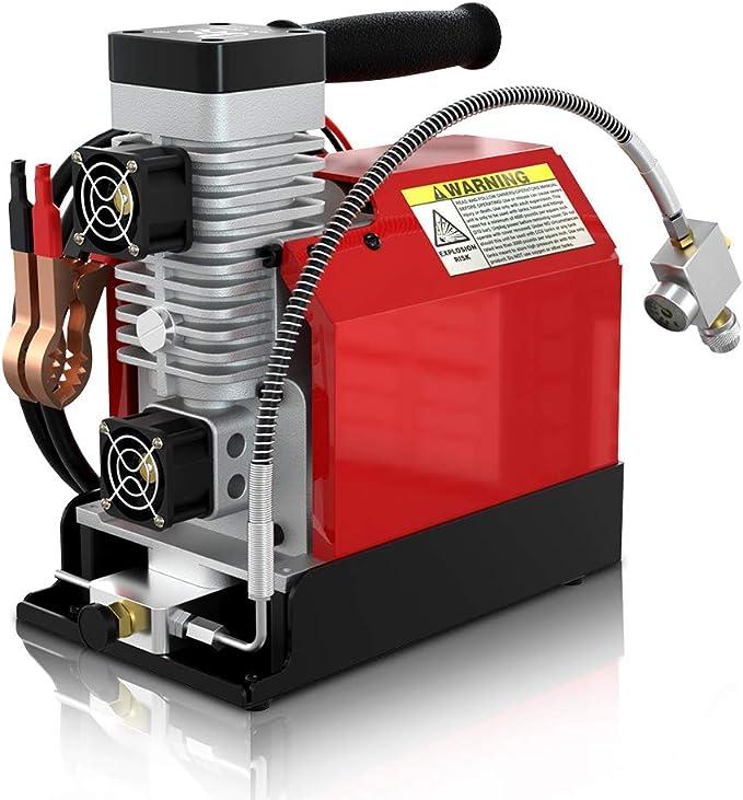 Gx Tragbarer Pcp Luft Kompressor 4500psi 30mpa ölfrei Angetrieben Durch 12v Dc Autobatterie Oder Haus 220v Ac Paintball Und Tauchflaschen Kompressor Scuba Luftkompressor Baumarkt