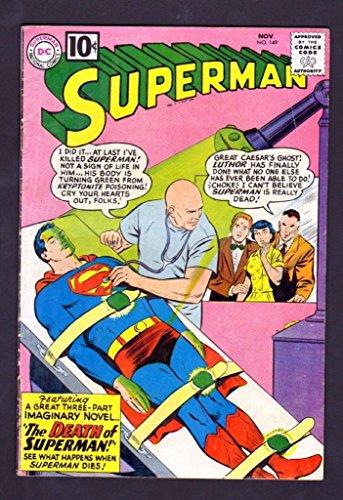 SUPERMAN 149 5.0 VGF 1961 DC DEATH OF SUPERMAN LUTHOR KRYPTONITE DEATH - Rays Roma