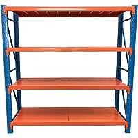 240(H) x200(L) cm Metal Warehouse Racking Storage Garage Shelving Steel Shelf 800kg Shelves (Blue + Orange)