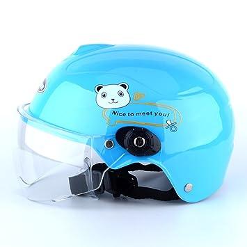 Cascos de Moto para Niños Bicicletas Ligeras para Niños Sombreros de Seguridad,Blue