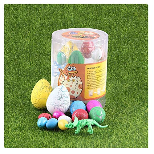 UTOPP 12 pcs Dinosaurs Eggs Assorted Size Hatching Egg Toys Growing Water Magic Cute Children Toy with Dinosaur Skeleton Model ()