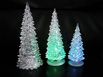 color changing icy crystal led christmas tree decoration night light lamp - Crystal Christmas Tree