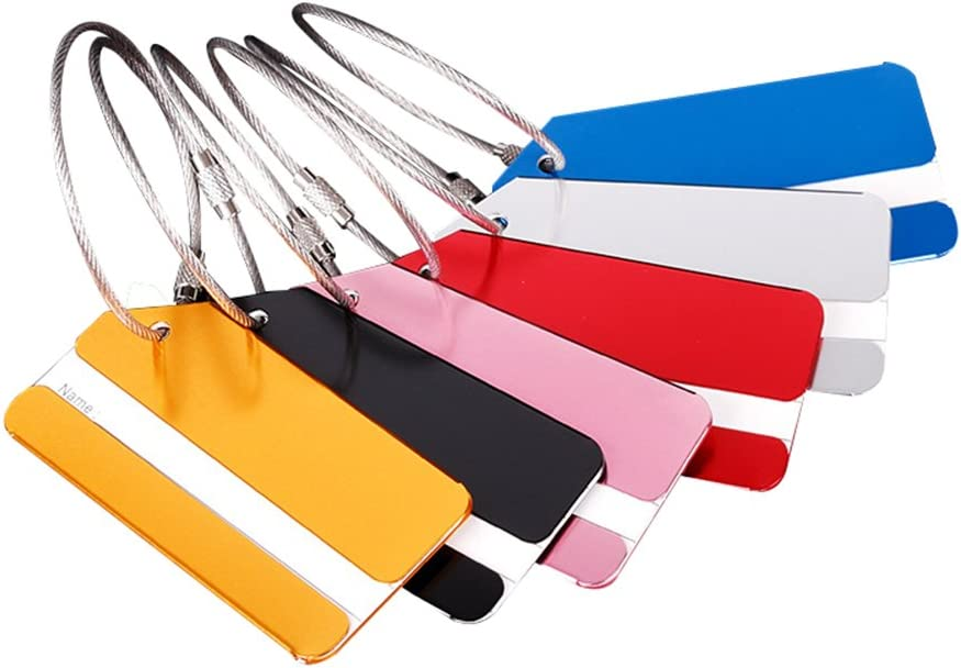 Joyfeel Buy 5 St/ück Gep/äckanh/änger Kofferanh/änger mit Adressschild Koffer-Tags aus Aluminiumlegierung