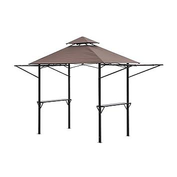 Tienda Outsunny para campamento, picnic o barbacoa, portátil, impermeable, de 2, 5 x 1, 5 m: Amazon.es: Jardín