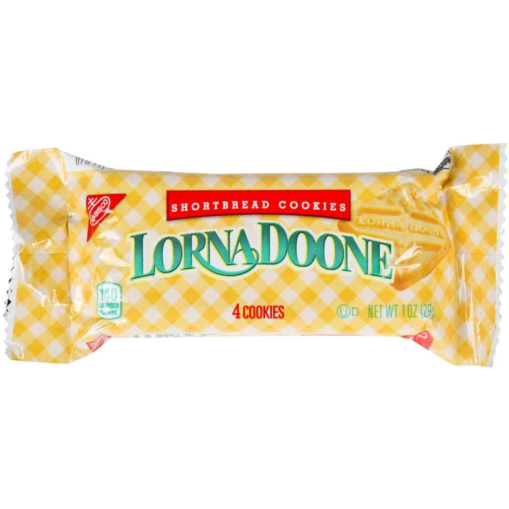 TableTop King Lorna Doone 1 oz. Shortbread Cookie Snack Pack - 120/Case