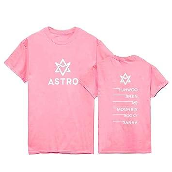 Astro mismo estilo camiseta SANHA jinjin moonbin eunwoo MJ Rocky Tee Shirt  - 01XM-FQ1058C 9a1153357a9d5