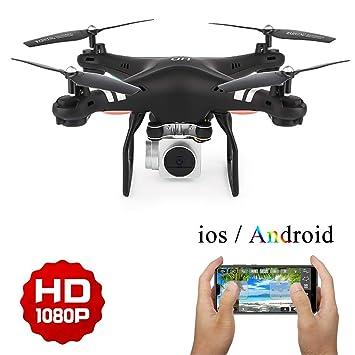 LJXWXN Drone con Cámara 1080P HD, con WiFi 2.4GHz FPV, RC ...