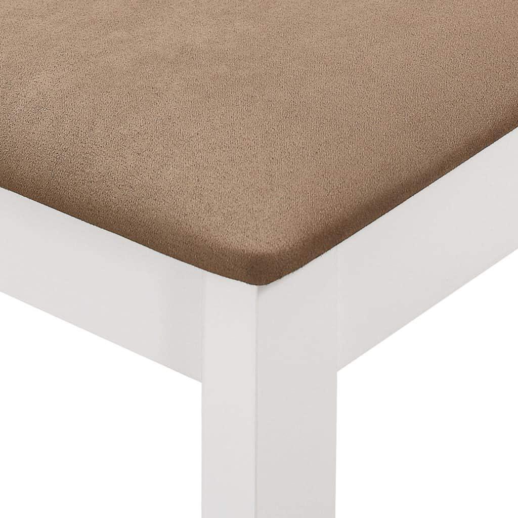 mewmewcat Sedie da Pranzo con Cuscini 6 pz Bianche in Legno Massello,Set Sedie da Pranzo da Pranzo 40 x 49 x 88,5 cm