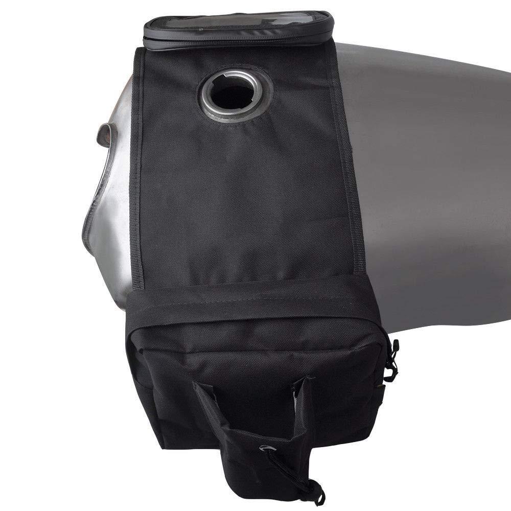 Tickas Fuel Tank Saddlebags,Universal Outdoor FuelTank Saddlebags Motorbike Left Right Side Saddle Swingarm Tool Bags Motorcycle Saddle Bag With Mobile Phone Bag For ATV Motorcycle
