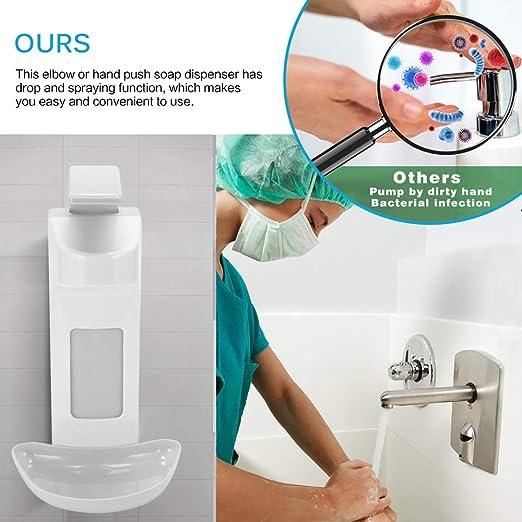 500 ml Dispenser a Parete Premere Il Distributore Tipo Manuale Dispenser per la Disinfezione del Sapone Gomito a Mano ALLOMN Dispenser di Sapone 1000ML 1000 ml