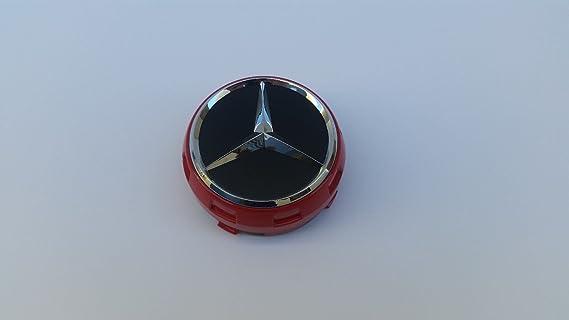 Amazon.com: MERCEDES BENZ 0004000900 RAISED EMBER RED/BLACK CENTER CAP W/CHROME STAR OEM: Automotive
