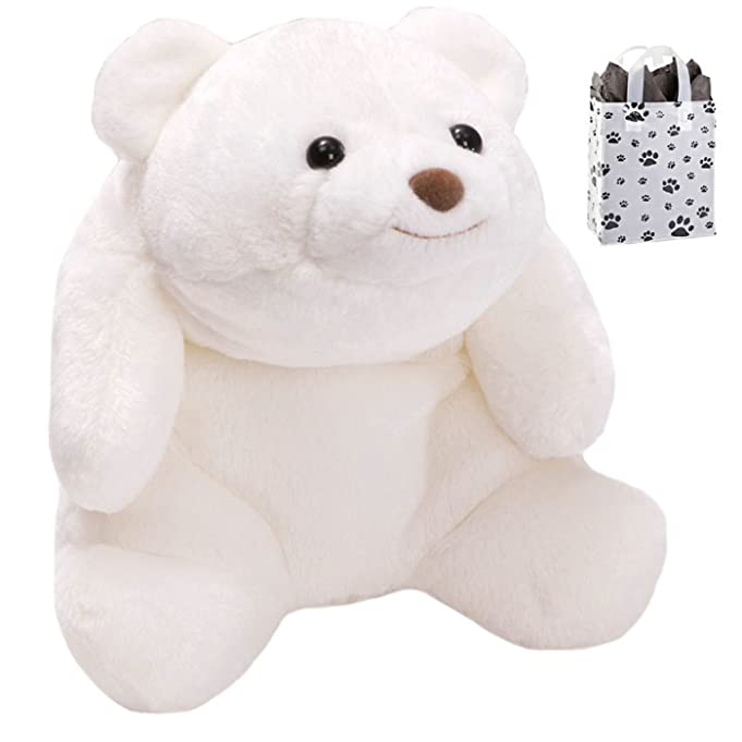 GUND Snuffles The White Bear Stuffed Toy & Bag Gift Set