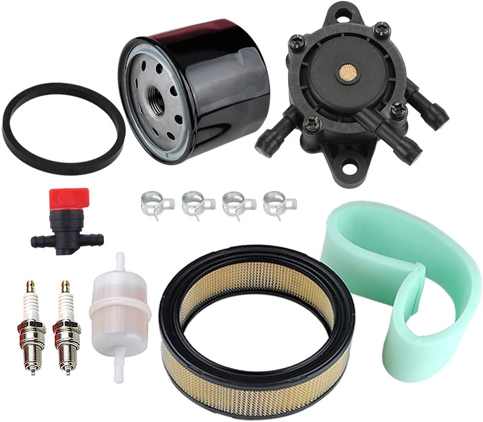HIPA 47 883 03-S1 Air Filter 24 393 16-S Fuel Pump Oil Filter Tune Up Kit for Kohler CH18 CH20 CH22 CH23 CH25 CV17 CV18 CV19 CV20 CV22 CV22S CV23 Engine Lawn Mower
